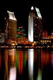 Linie Sans Diego Sky am Weihnachten Lizenzfreie Stockbilder