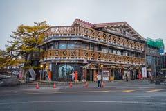 Linie 5. Station Fujis Subaru beim Fujisan, Japan stockbild