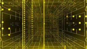 Linie Technologie-Hintergrund 4K des Kreislichtes 360 drehende SCHLEIFE lizenzfreie abbildung