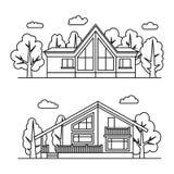 Linie Vektor-Illustration Lizenzfreie Stockbilder