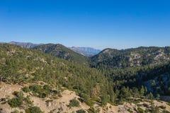 Linie von bewaldeten Kalifornien-Bergspitzen Lizenzfreie Stockfotos