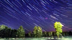 Linie von den Sternen Geschossen auf Kennzeichen II Canons 5D mit Hauptl Linsen 4K stock video