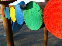 Linie von Farben stockfoto