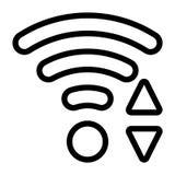 Linie Wi-Fiikone Stockfoto