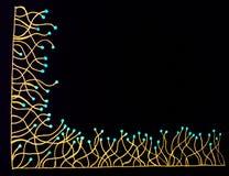 Linie z kropki granicą Zdjęcie Stock