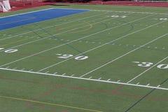 Linien auf dem Fußballplatz Stockbilder