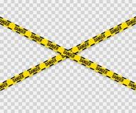 Linien lokalisiert Warnende Bänder achtung Warnschilder Auch im corel abgehobenen Betrag lizenzfreie abbildung