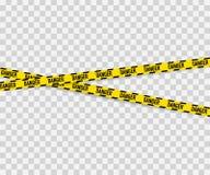 Linien lokalisiert Warnende Bänder achtung Warnschilder Auch im corel abgehobenen Betrag vektor abbildung