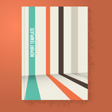 Linien Perspektiven-Broschüre/Berichts-Schablone Lizenzfreie Stockbilder