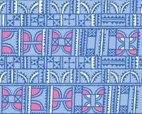 Linien, Quadrate, Dreiecke und Bogendekoration entwerfen im Vektor Nahtloser Musterhintergrund Stockfotografie