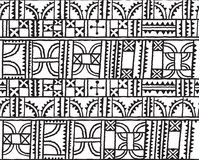 Linien, Quadrate, Dreiecke und Bogendekoration entwerfen im Vektor Nahtloser Musterhintergrund im Entwurf Lizenzfreies Stockbild