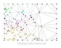Linien- und Punktvektorillustration Lizenzfreies Stockbild
