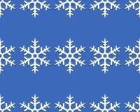 Linien von Schneeflocken Stockfotos