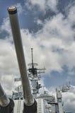 Linienschiff-Missouri-Gewehren Stockfotos