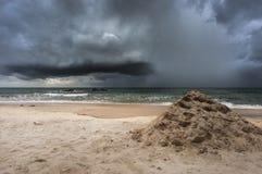 Linii brzegowej burza zdjęcie royalty free