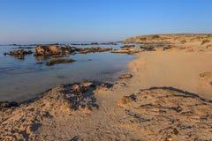 linii brzegowej Crete elafonisi krety Greece Obrazy Royalty Free