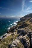 linii brzegowej Croatia wyspy krk Obrazy Royalty Free