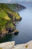 linii brzegowej Devon lynton kołysa dolinę Zdjęcie Stock