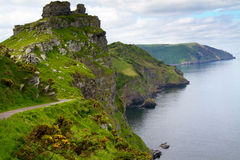linii brzegowej Devon lynton kołysa dolinę Zdjęcia Royalty Free