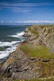 linii brzegowej gower rhossili Wales Zdjęcie Stock