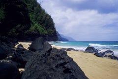 linii brzegowej Kauai na pali obraz royalty free