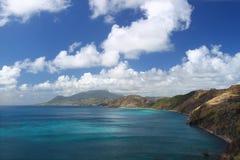 linii brzegowej Kitts majestatyczny święty Fotografia Royalty Free