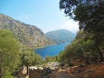 linii brzegowej krajobrazowy morza śródziemnomorskiego indyk Zdjęcie Royalty Free