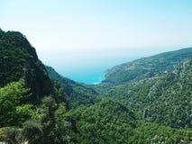 linii brzegowej krajobrazowy morza śródziemnomorskiego indyk Obraz Stock