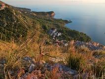 linii brzegowej Montenegro zmierzch Fotografia Stock