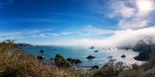 Linii brzegowej Plażowa scena od Północnego Kalifornia Fotografia Stock