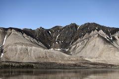 linii brzegowej Svalbard trygghamna Obrazy Royalty Free