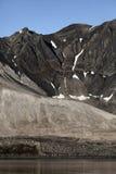linii brzegowej Svalbard trygghamna Fotografia Stock