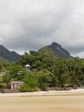 linii brzegowej wyspy mahe port Seychelles zdjęcia stock