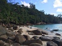 linii brzegowej wyspy mahe port Seychelles Obraz Royalty Free