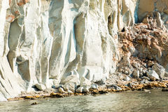 Linii brzegowych gerakas plaża w Zakynthos wyspie Zdjęcia Royalty Free