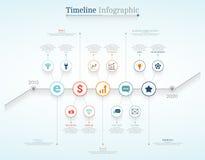Linii czasu Infographic projekta szablony - 4 Zdjęcia Stock