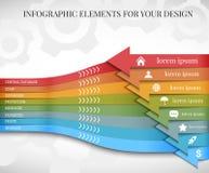 Linii czasu Infographic projekta szablony - 5 Zdjęcie Stock