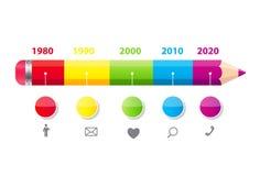 Linii czasu Infographic szablon dla Biznesowego wektoru royalty ilustracja