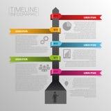 Linii czasu infographics, elementy z ikonami wektor Obrazy Royalty Free