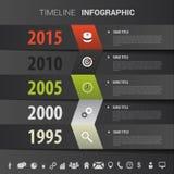 Linii czasu infographics, elementy z ikonami Wektoru czerń royalty ilustracja