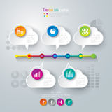 Linii czasu infographics projekta szablon. Obraz Royalty Free