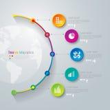 Linii czasu infographics projekta szablon. Obrazy Royalty Free