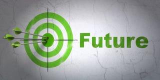 Linii czasu pojęcie: cel i przyszłość na ścianie ilustracji