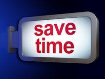 Linii czasu pojęcie: Save czas na billboardu tle Obraz Royalty Free