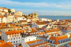 Linii horyzontu Lisbon Stary miasteczko, Portugalia fotografia royalty free