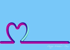 Linii horyzontu matek Szczęśliwy dzień, 3D fluorescencyjny Zdjęcia Stock
