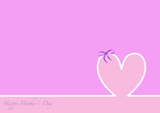 Linii horyzontu matek Szczęśliwy dzień, różowy tło Zdjęcie Stock