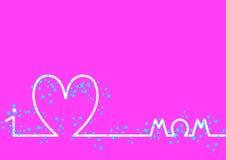 Linii horyzontu matek Szczęśliwy dzień, różowy tło Obraz Stock