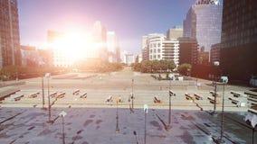 Linii horyzontu miasta panorama przy zmierzchem zdjęcie wideo