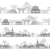 Linii horyzontu miasteczko Ilustracji